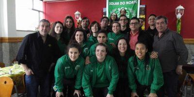 Equipa futsal feminina do Sporting