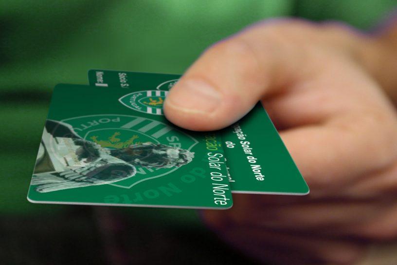 Cartão sócio do Solar do Norte do Sporting Clube de Portugal