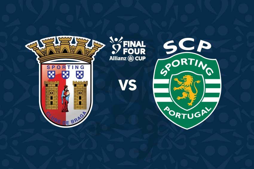 Bilhetes final four taça da liga Braga Sporting